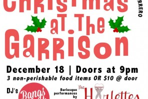 Christmas at the Garrison holiday food drive – Dec 18